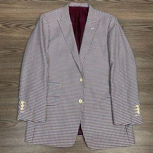 Other - Bespoke Red, White & Blue Gingham Sport Coat 40R